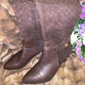 Coach Leather Boots size 7.5M